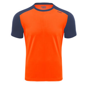 T-shirt tecnhique runnek limit orange fluorine