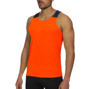 T-shirt with straps tecnhique vest orange fluor