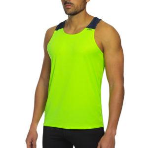 T-shirt with straps tecnhique vest yellow fluor