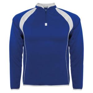 SWEATSHIRT technical sport hoody blue white