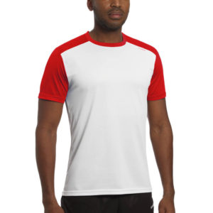T-shirt tecnhique runnek milos white red