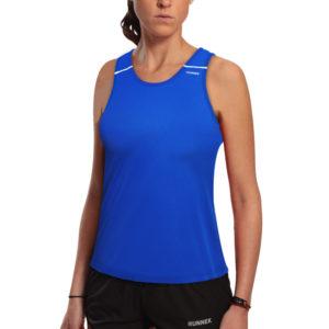 T-shirt with straps tecnhique ultravest blue woman