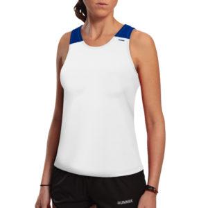 T-shirt with straps tecnhique vest white woman