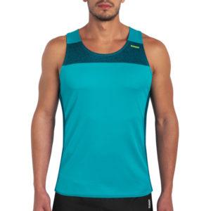 T-shirt with straps cube aquamarine