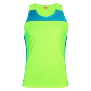 T-shirt with straps cube green neon