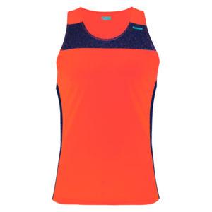 T-shirt with straps cube orange neon
