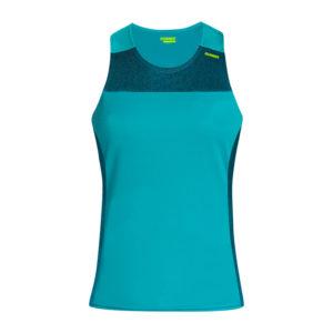 T-shirt with straps cube woman aquamarine