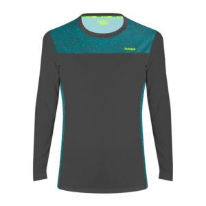 Women's Long Sleeve T-shirt fast carbon grey