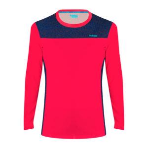 Women's Long Sleeve T-shirt fast neon pink