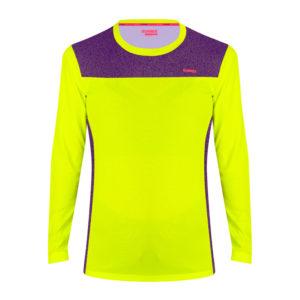 Women's Long Sleeve T-shirt fast yellow neon
